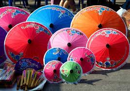 How To Make Paper Umbrellas - umbrella center ton pao thailand borsang or bosang is
