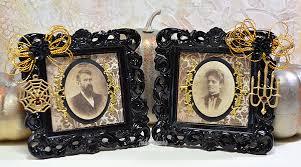 spooky vintage couple altered halloween frames by heidi