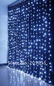 led light curtain 144 crystal led lights 6 u0027 long cool white