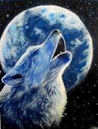 wolf and moon by albertocn on deviantart