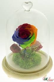 rose in glass skfleur preserved rose in glass dome order online now