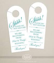 set of 10 door hanger for wedding hotel welcome bag do not
