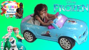 power wheels jeep frozen disney frozen mustang rid on power wheel car selinas toy review