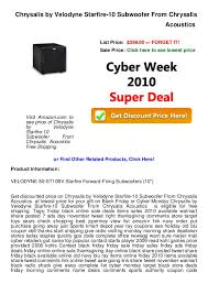 subwoofers on sale black friday cyber week deals chrysalis by velodyne starfire 10 subwoofer from u2026