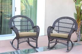 Blue Wicker Rocking Chair Darby Home Co Berchmans Wicker Rocker Chair With Cushions