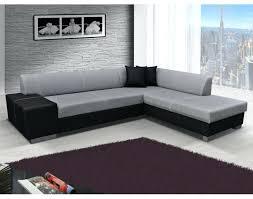 canapé droit tissu canape d angle carre canapac dangle tissu et cuir leandro gris et