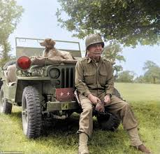 military jeep front remarkable colourised images capture lighter side of wwii daily