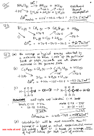 a level gce worked examples of enthalpy calculations answers ks5
