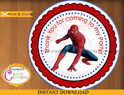 instant download spiderman labels printable