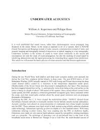 underwater acoustics pdf download available
