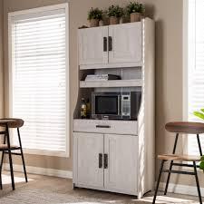 white kitchen storage cabinet baxton studio portia white washed 6 shelf kitchen storage cabinet 152 9175 gdk goedekers