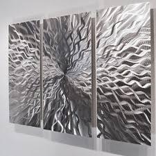 wall ideas design grey silver wall silver canvas black
