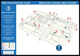 Fire Evacuation Plan Template For Office by Home Silverbear Design