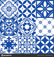 Morocco Design by Spanish Tiles Moroccan Tiles Design Seamless Navy Blue Pattern