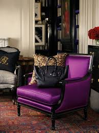 ralph lauren home collection purple couch with leopard pillows