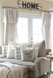 living room curtains for big windows farmhouse decor and pillow