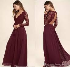sleeved bridesmaid dresses 2017 burgundy chiffon bridesmaid dresses sleeves western
