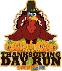 thanksgiving day run half marathon 10k 5k 1k race
