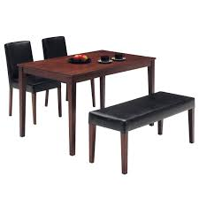few piece dining room set the quality of life home 4 piece dining set with bench dining furniture pinterest bench