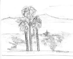 my word with douglas e welch palm trees sketch from may 2006