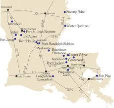 louisiana state map key louisiana state park map map