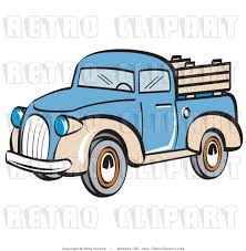 Vintage Ford Truck Art - royalty free retro vector clip art of a pickup truck by andy