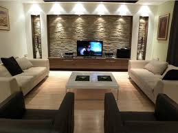 contemporary country living room design with massive sofa and