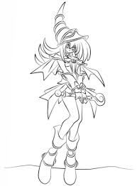 dark magician yu gi coloring free printable