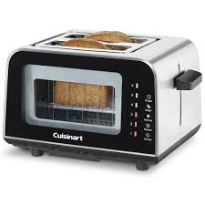 Glass In Toaster Oven Amazon Com Cuisinart Cpt 3000 Viewpro Glass 2 Slice Toaster