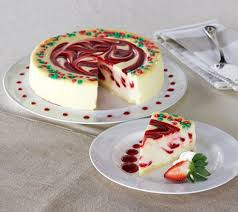 cheesecake delivery junior s 3 lb christmas swirl cheesecake auto delivery page 1