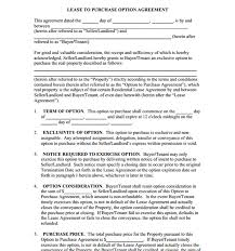 doc 575709 lease to buy agreement template u2013 rent with option to