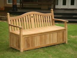 Wood Bench With Storage Outdoor Bench With Storage Laluz Nyc Home Design
