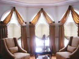 modern drapery styles rods for arch window treatment arched arch