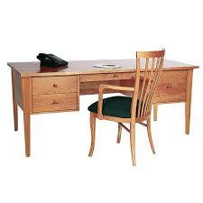Excutive Desk Classic Shaker Executive Desk Vermont Woods Studios