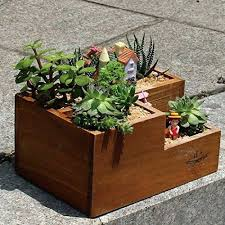 personalized flower pot wood flower pots wooden flower pot succulent plants pot