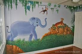 kid u0027s jungle and animal mural painting for nursery room montreal