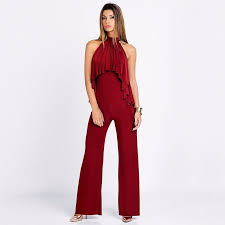 high neck jumpsuit high neck jumpsuit with ruffle front detail rompers green