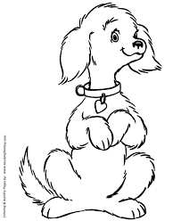 dog coloring pages printable cute pet dog coloring sheet