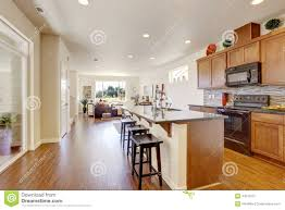 Kitchen With Island Floor Plans by House Interior With Open Floor Plan Kitchen Room Wiht Island