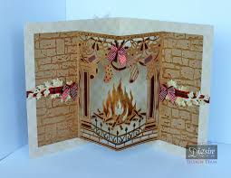 diana clews pop out fireplace christmas create a card die
