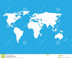 Free Vector World Map by Political Vector World Map With State Name Labels White Land With