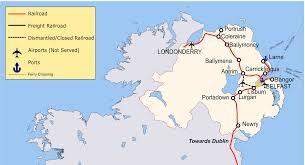 Ireland Rail Map Irish Rail Map Gallery