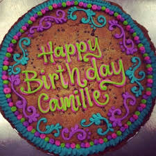 birthday cookie cake cookie cakes the colors on this one project cakes