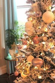 White Christmas Tree With Orange Decorations by Rose Gold Christmas Tree Christmas U0026 Winter Pinterest Rose
