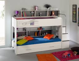 Full Over Full Bunk Beds With Stairs White Fitted Sheet And Pillow - Fitted sheets for bunk beds