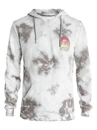 shrine tie and dyed pullover hoodie eqyft03266 quiksilver