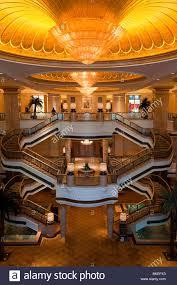 ornate interior of the luxury emirates palace hotel abu dhabi