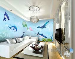 Watercolor Wallpaper For Walls by Watercolor Whale Dophin Blue Entire Room Wallpaper Wall Mural Art
