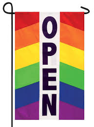 Decorative Sports Flags Rainbow Open Applique Garden Flag I Americas Flags