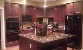 oak wood honey prestige door dark cherry kitchen cabinets
